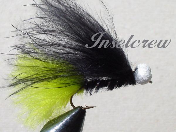 Black-green marabou stimulator