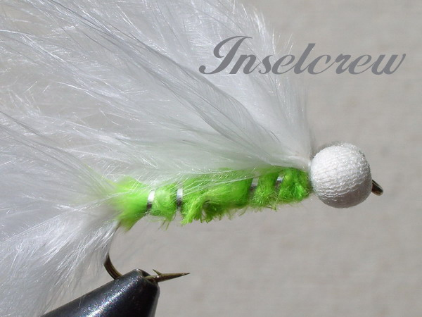 Green ripped marabou stimulator