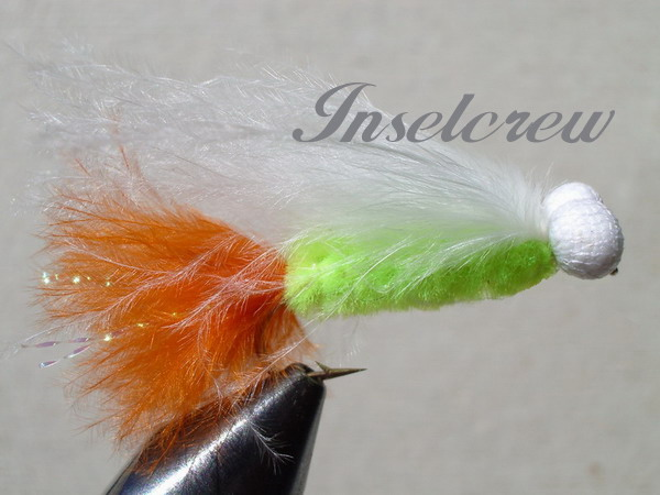 Green-brown marabou stimulator