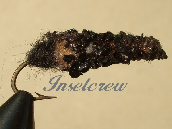 Cased Caddis Black big