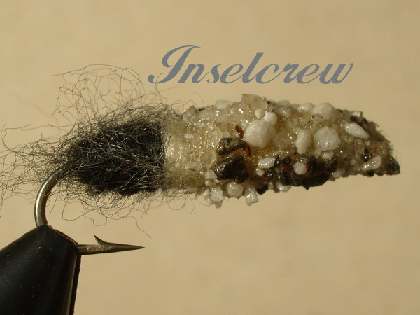 Cased Caddis White/Black