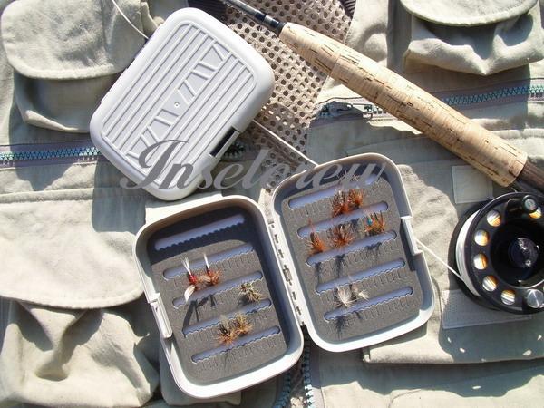 Fliegenbox Plastik mit Schnappverschluss