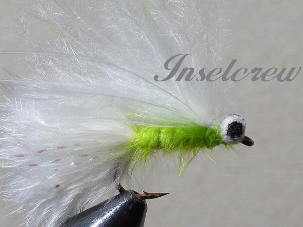 Green-white marabou stimulator